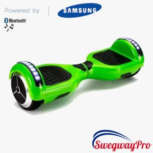 Hoverboard GREEN Bluetooth LED