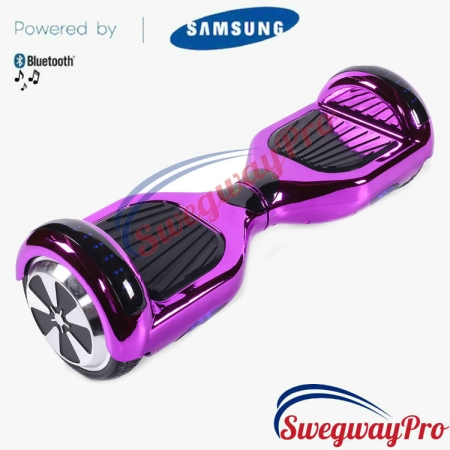 PURPLE CHROME Disco Hoverboard Sale UK M1X