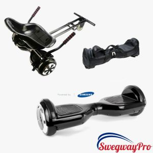 Classic BLACK Swegway and Kart Hoverboard Bundle