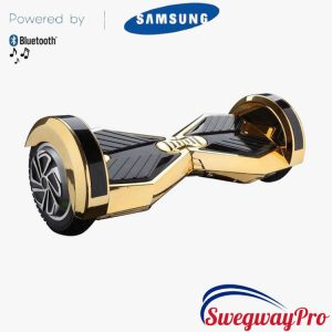GOLD-CHROME 8 inch Hoverboards Swegways Sale UK