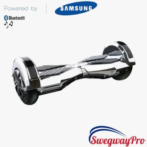 SILVER-CHROME 8 inch Hoverboard Swegway Sale UK