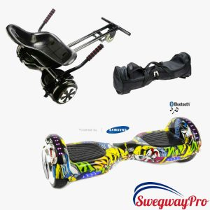 GRAFFITI DISCO Hoverboard and Kart Swegway Bundle