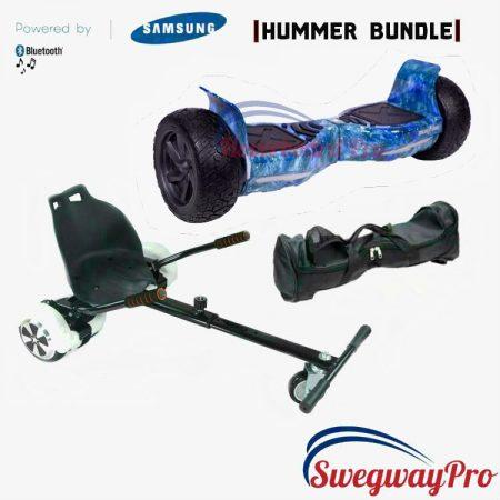 HOVERBOARD UK Blue Galaxy Bundle Hummer