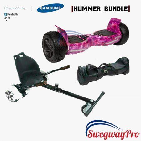 HOVERBOARD UK Pink Galaxy Bundle Hummer