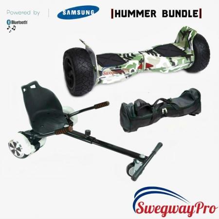 Hoverboard and Kart sale UK Swegways H8 green-camo