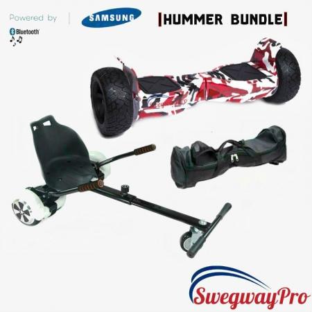 Hoverboard HoverKart sale UK Swegways H8 red-camo