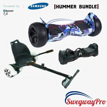 HOVERBOARDS UK Blue Camo Hummer Hoverkart Bundle