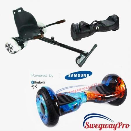 10 inch Flame Hoverboard Hoverkart Bundle Sale UK