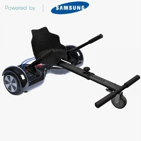Classic BLACK Hoverboard UK Kart Bundle