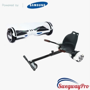 Classic White Hoverboard with Hoverkart Bundle Sale deal