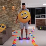 Emoji Movie Hoverboard Challenge UK Swegways