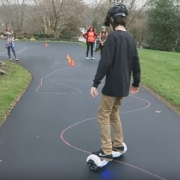 Family turn Driveway Hoverboard Racecourse