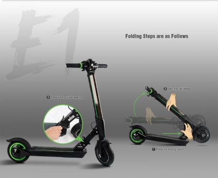 Electric Scooter Sale UK folding steps 1