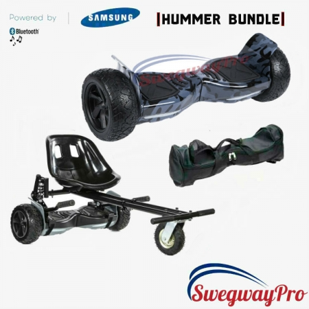 HOVERBOARDS UK Black Camo Hummer Hoverboard Suspension Kart Deal