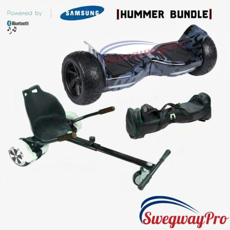 HOVERBOARDS UK Black Camo Hummer Hoverkart Bundle