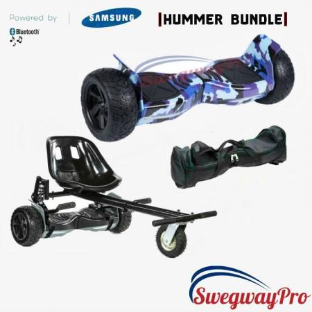 HOVERBOARDS UK Blue Camo Hummer Hoverboard Suspension Kart Deal