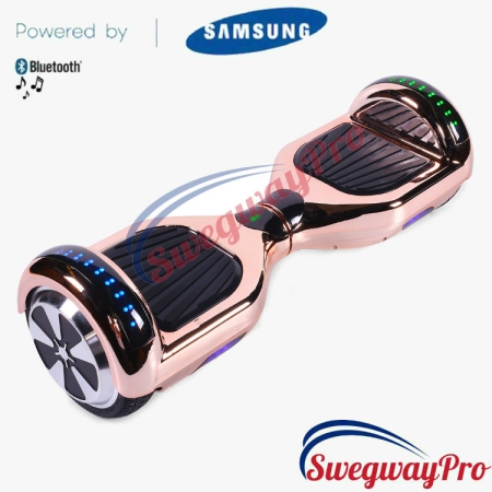 ROSE GOLD CHROME Disco Hoverboard Sale UK M1X