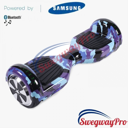 BLUE CAMO Disco Hoverboard Sale UK M1X