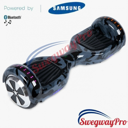 HOVERBOARDS UK Black Camo Disco Hoverboard