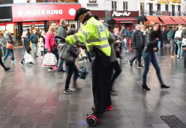 Illegal to ride hoverboard UK