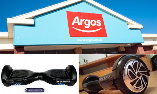 Unsafe Hoverboards UK from Argos