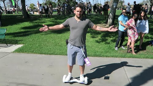 riding Hoverboards for the first time UK